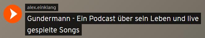 Gundermann - Ein Podcast über sein Leben und live gespielte Songs